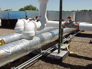 Captivating PIPE PIER® Supports HVAC Equipments On Roof